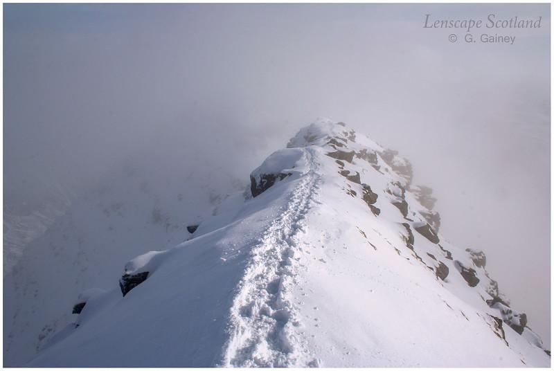 snowy ridge, Horns of Alligin