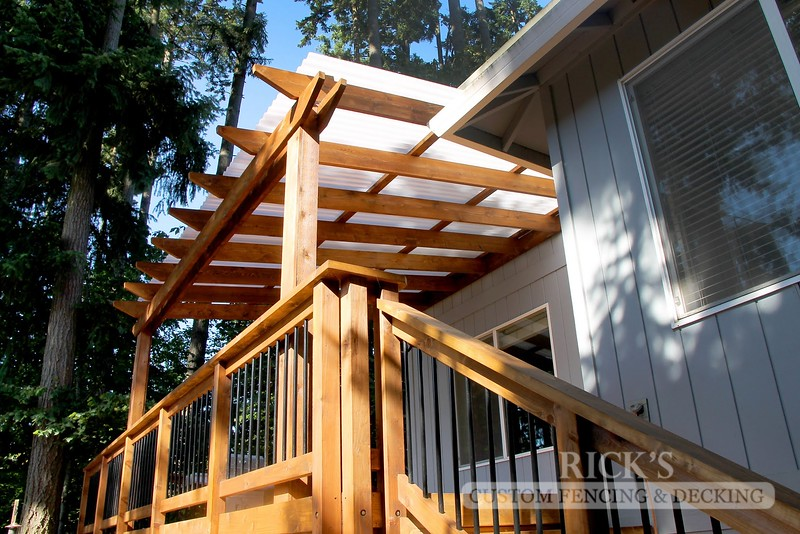 5058 - Wood-Framed Patio Cover with Acrylite Paneling