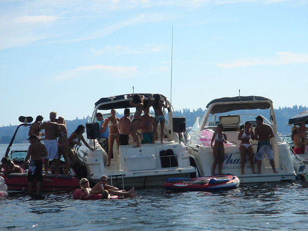 Boat Party on Lake Washington 2006
