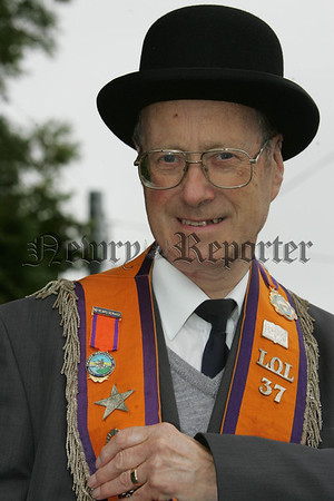 Pictured is Tom Wylie who recieved a medal from the Loyal Orange Institution of Ireland to mark 50 Years of service. 07W29N8