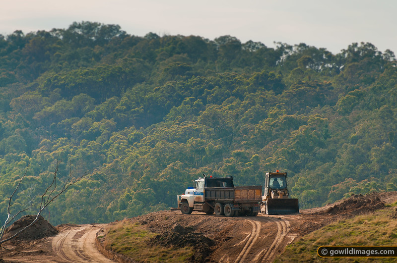 Land clearing for new housing as a part of 'Black Saturday' bushfire recovery near Smiths Gully