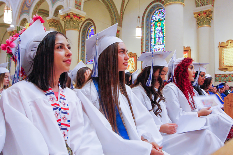 St. Michael's High School Class of 2018's Mass and Commencement ceremony at The Cathedral Basilica of St.Francis on May 18, 2018. Gabriela Campos/The New Mexican