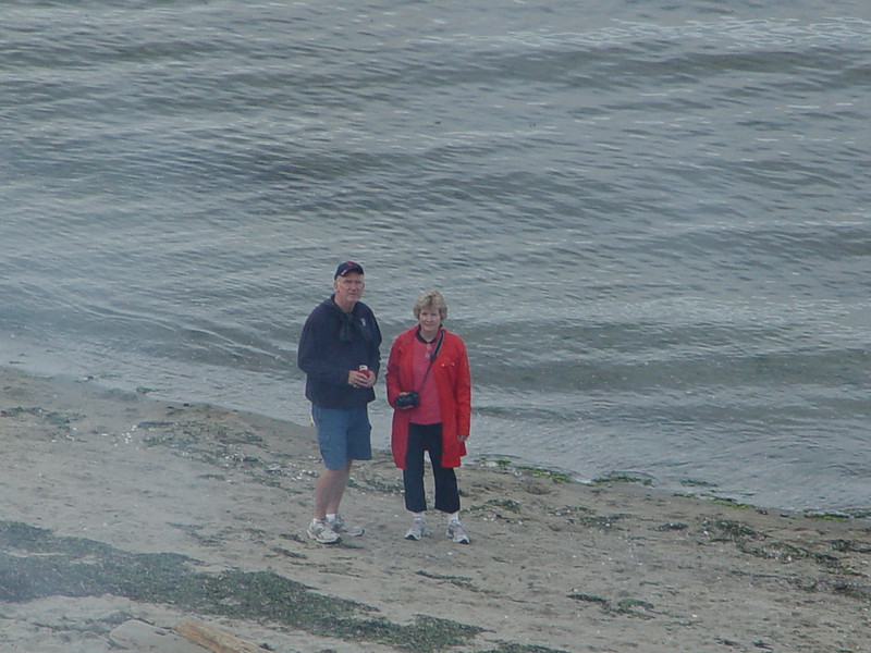 Mike and Linda on the beach