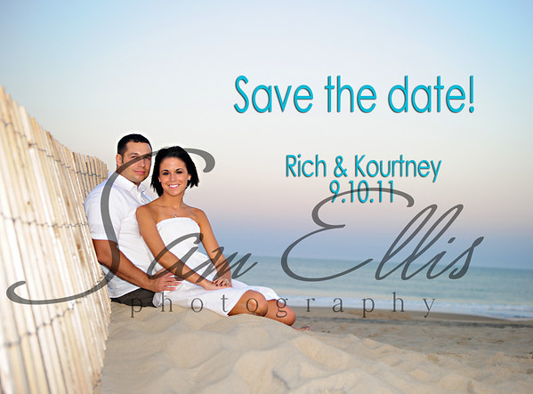 Kourtney and Rich Save the Date Cards
