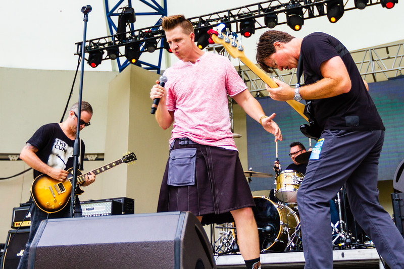 Members of Lochness Monster performing at SunFest, May 2, 2019. [JOSEPH FORZANO]
