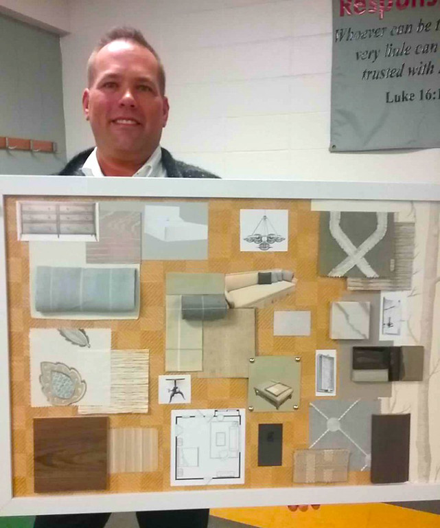 . This is the second year that Gregory Mononen of Gregory Todd Interiors in Mentor has been part of the Lake County YMCA Dream House project. He will design the master bedroom and bath in the 2018 Dream House.  {Jean Bonchak For The News-Herald}