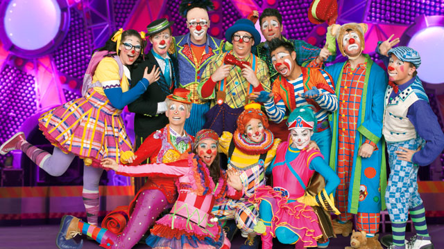 ". Clowns gather for Ringling Bros. and Barnum & Bailey\'s latest circus production ""Built to Amaze,\"" which plays the Denver Coliseum Oct. 3-6 and the Pepsi Center Oct. 9-13."