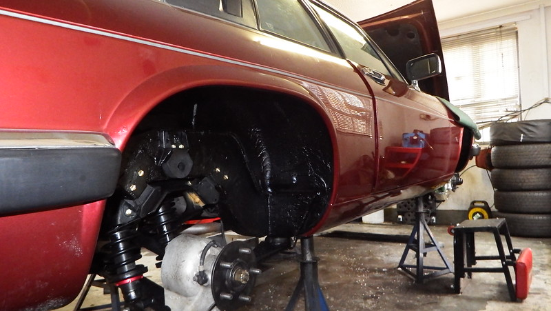 New rear suspension in place