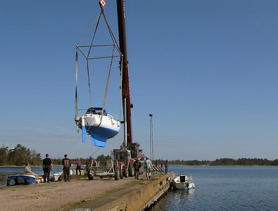 Boat launching 2008