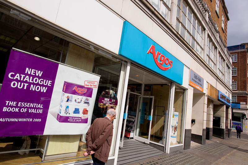 Argos department store, London, United Kingdom