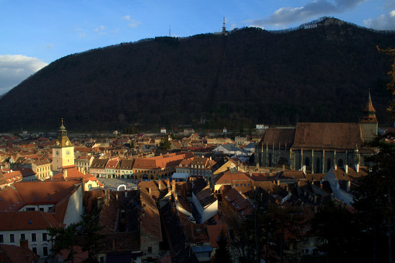 View from the tower above Brasov, Romania.