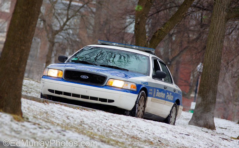 Watchful eye: A Boston Patrol Car keeps an eye on things in the Boston Common: Happy Tuesday! Sorry - I won't be able to make any visits today - I will be away from my computer for most of the day :(  2/19/2013