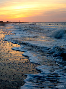 Sunrise at Yaupon Beach, Oak Island, North Carolina