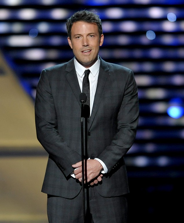 . Ben Affleck speaks on stage at the ESPY Awards on Wednesday, July 17, 2013, at the Nokia Theater in Los Angeles. (Photo by John Shearer/Invision/AP)