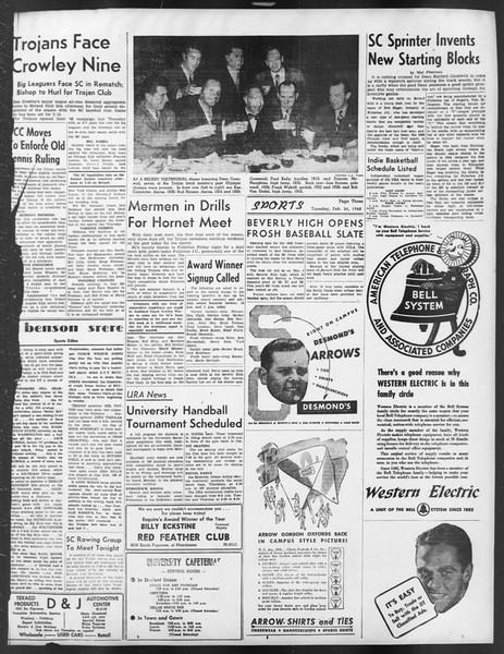 Daily Trojan, Vol. 39, No. 85, February 24, 1948