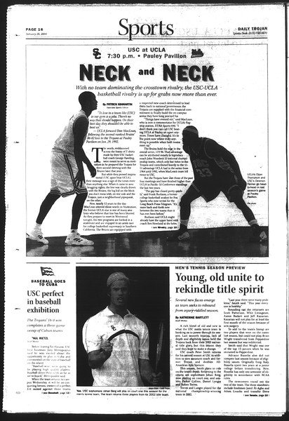Daily Trojan, Vol. 151, No. 10, January 28, 2004
