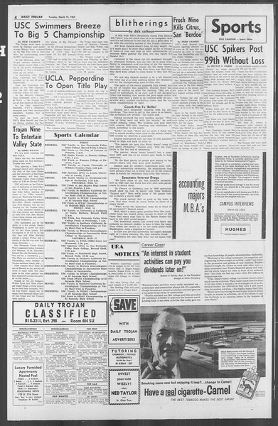 Daily Trojan, Vol. 53, No. 87, March 13, 1962