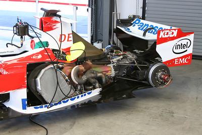 2006 Panasonic Toyota TF106 F1 - Garage Shots - Monterey Historics