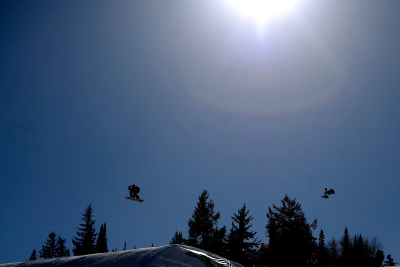 . Mark Snowboarder Mark McMorris makes a jump during the men\'s snowboard slopestyle eliminator. X Games Aspen at Buttermilk on Thursday, January 23, 2014. (Photo by AAron Ontiveroz/The Denver Post)