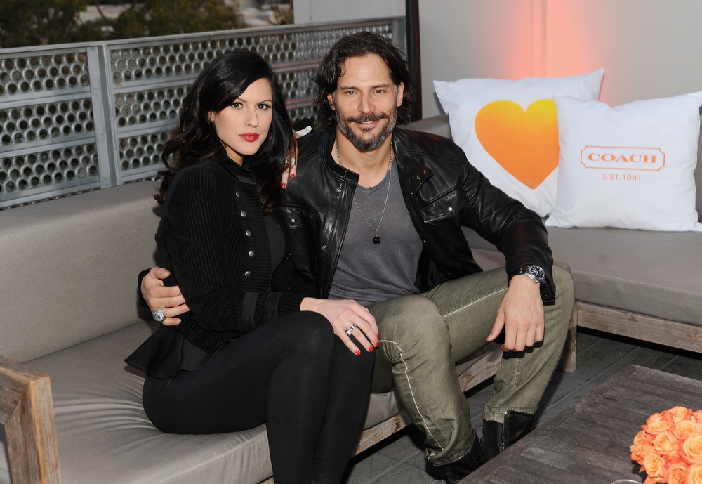 . Model Bridget Peters and actor Joe Manganiello attend Coach\'s 3rd Annual Evening of Cocktails and Shopping to Benefit the Children\'s Defense Fund hosted by Katie McGrath, J.J. Abrams and Bryan Burk at Bad Robot on April 10, 2013 in Santa Monica, California.  (Photo by Stefanie Keenan/Getty Images for Coach)