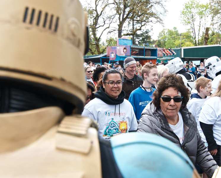 Star Wars Oregon, The 501st, and Rebel Legion attend a Walk for Autism Charity event in Portland, OR