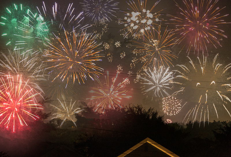 July 4 - Fireworks composite at the local high school.  Happy 243!.jpg