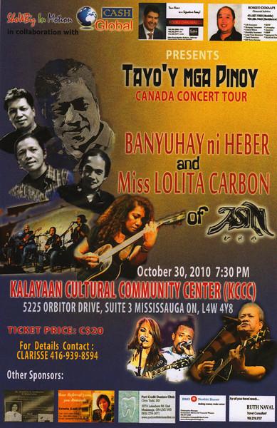 Tayo'y Mga Pinoy Canada Concert Tour at KCCC