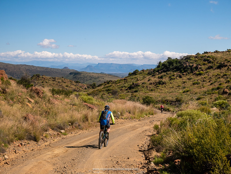 Dave taking things a little easier on the decent from the top of Elandskloof Pass