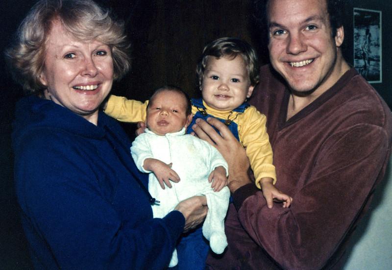 Circa: October 1981, Justin visits Grandma, Jason and Jeff.