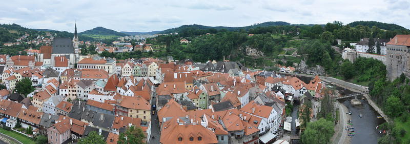 Cesky Krumlov from the castle wall