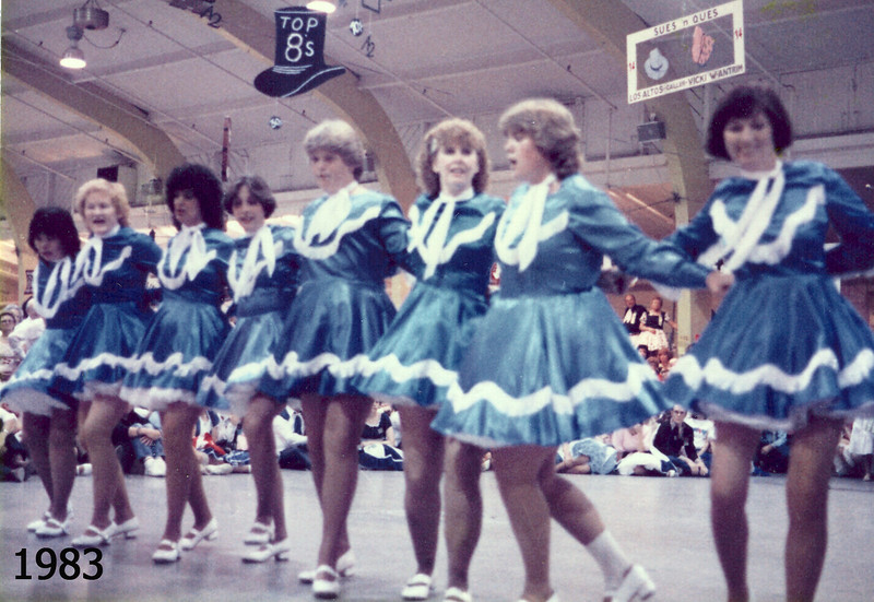 Blossom Hill Cloggers performing at the Jubilee, 1983.