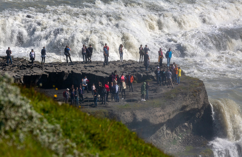 A Gullfoss falls viewpoint