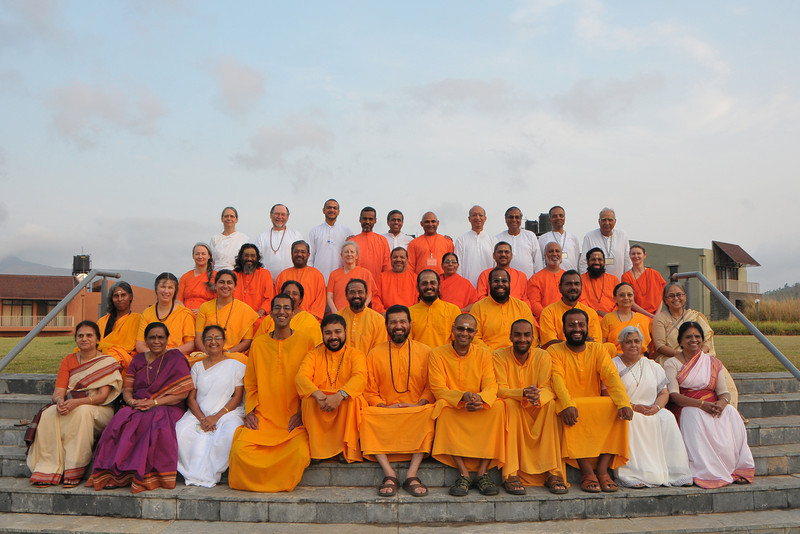 Group picture taken at the Acharyas (abroad) Conference, May 19-23 at Chinmaya Vibhooti, Post Kolwan, Taluka Mulashi, Pune - 412 108, Maharashtra. India.