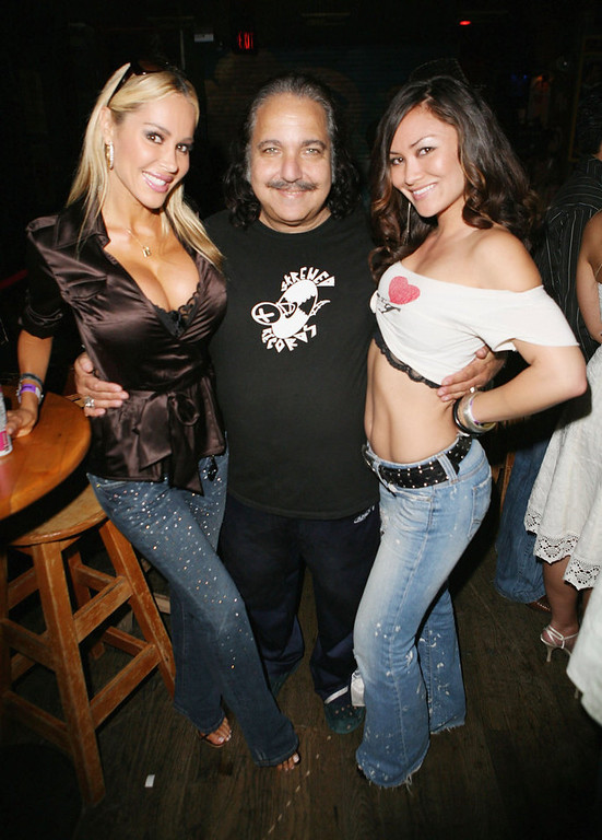 . Tabitha Taylor, Ron Jeremy and Christina Brown attend Corey Feldman\'s 35th Birthday Bash at the House of Blues on July 30, 2006 in West Hollywood, California. (Photo by Chad Buchanan/Getty Images)