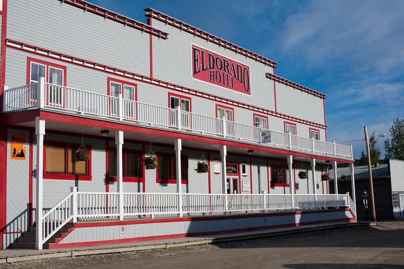 El Dorado Hotel in Dawson City, Yukon, Canada