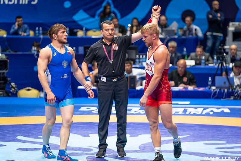 Quarterfinal: Kyle Douglas Dake (United States) over Gadzhi Nabiev (Russia)  •  Dec 5-1 - 2019 World Championships
