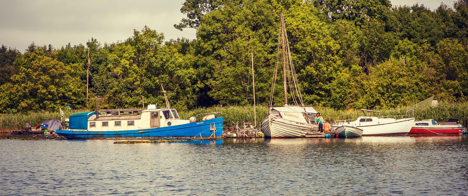 丹麥哥本哈根,遊船遊人和美人魚