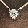 0.67ct Transitional Cut Diamond Pendant Clover Setting 0