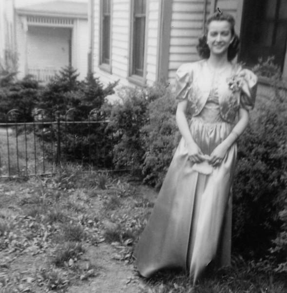 Age 16 Senior Prom.  Aunt Eva made the dress