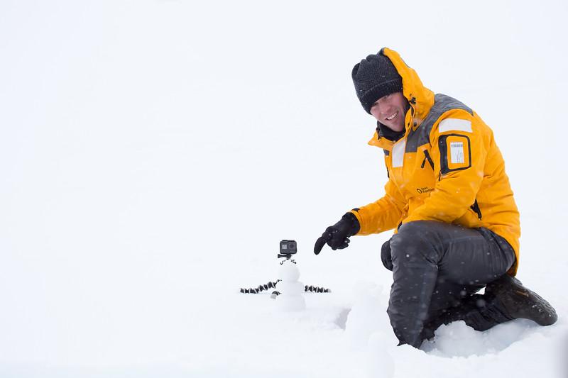 Building a snowman in Antarctica - David Stock Jr