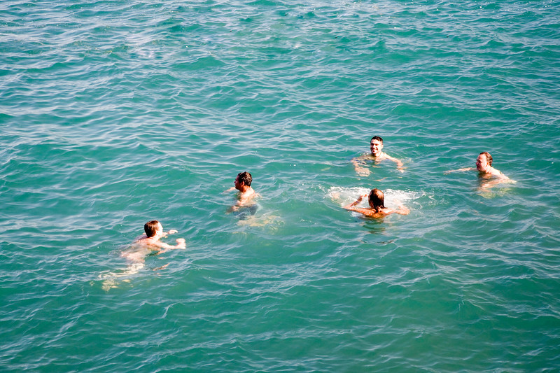 Refreshing, summery image of people on the sea.