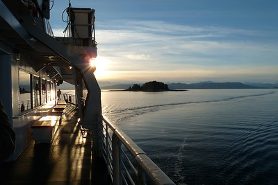 January 2011 - Ferry Nearing Angoon, Alaska Cynthia Meyer, Chatham Strait, Alaska