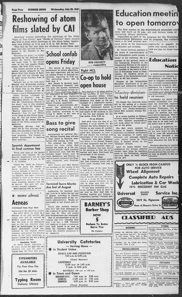 Summer News, Vol. 2, No. 13, July 23, 1947