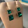 Georgian Double Drop Emerald Paste Earrings 6