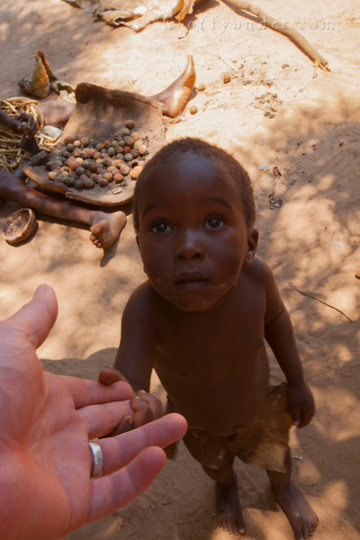 MAFWE LIVING MUSEUM, NAMIBIA - A new friend.