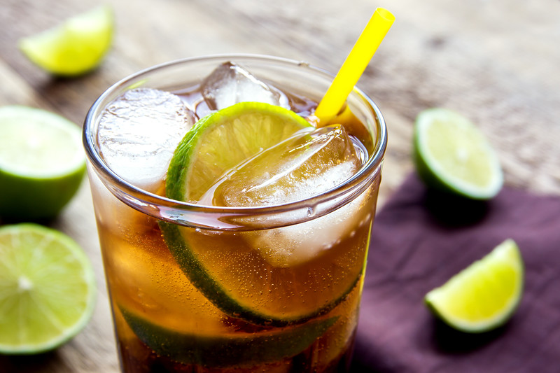 Rum And Cola Cuba Libre Drink