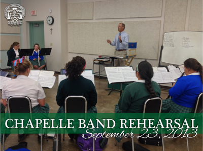 Chapelle Band Rehearsal