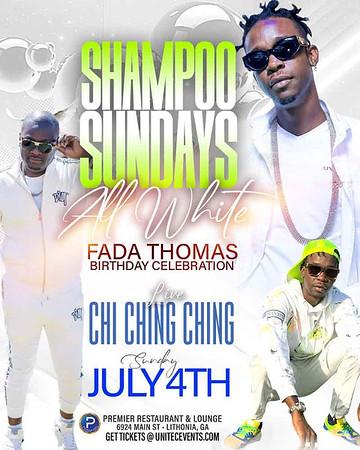 SHAMPOO SUNDAYS ALL WHITE FADDA THOMAS BIRTHDAY CELEBRATION
