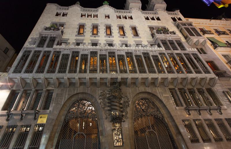 Güell Palace by architect Antoni Gaudí very near to where we stayed.