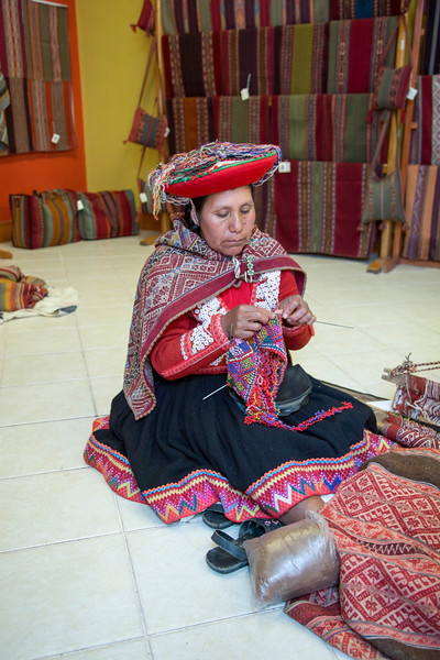 Alpaca products, Factory, Cusco - May, 2015